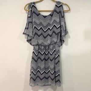 City Triangles Mini Cold-Shoulder Dress